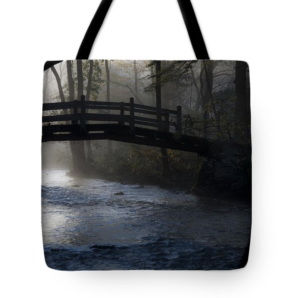 Bow Bridge At Valley Forge Tote Bag by Bill Cannon