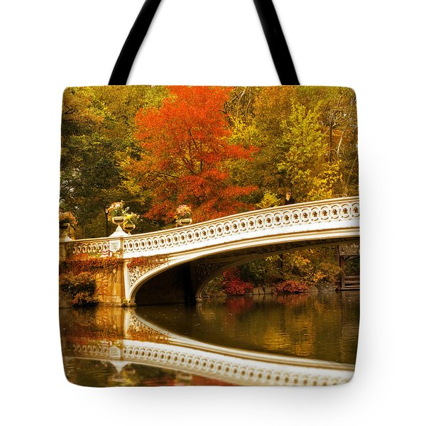 Tote Bag featuring the photograph Bow Bridge Beauty by Jessica Jenney