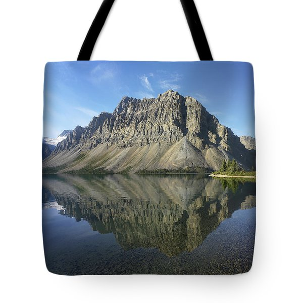 Bow Lake And Crowfoot Mts Banff Tote Bag