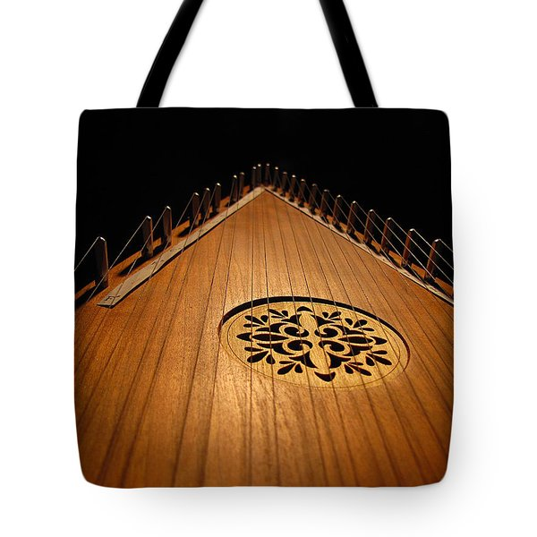 Tote Bag featuring the photograph Bowed Psaltery by Greg Simmons