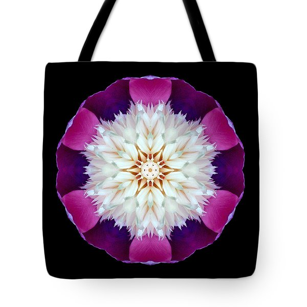 Bowl Of Beauty Peony II Flower Mandala Tote Bag