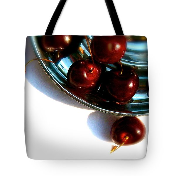 Bowl Of Cherries Tote Bag