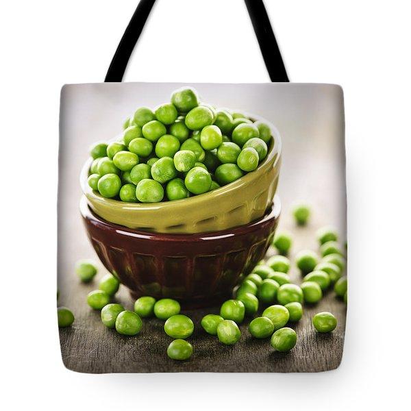 Bowl Of Peas Tote Bag by Elena Elisseeva