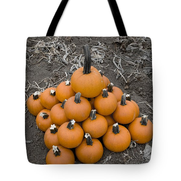 Tote Bag featuring the photograph Bowling For Pumpkins by David Millenheft