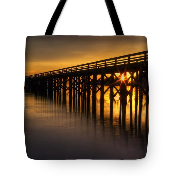 Bowman Bay Pier Sunset Tote Bag