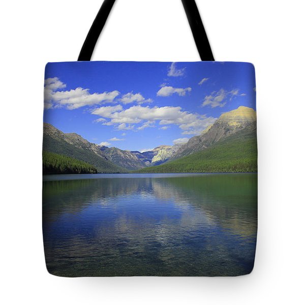 Bowman Lake Montana Tote Bag