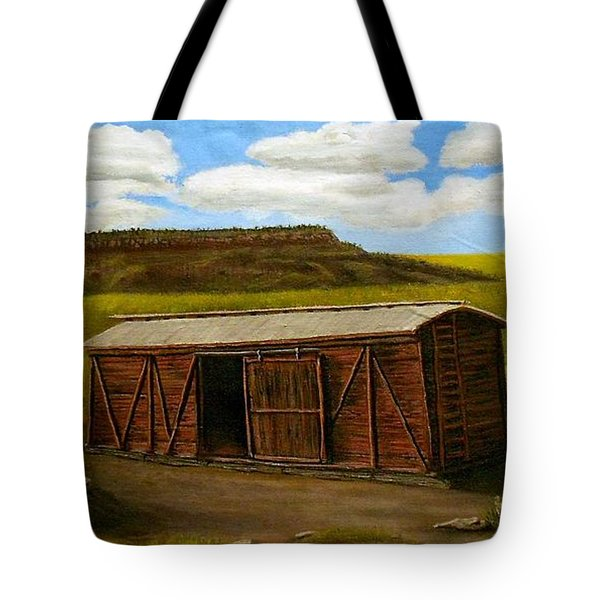 Boxcar On The Plains Tote Bag by Sheri Keith