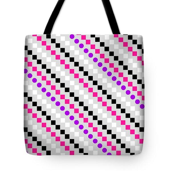 Boxed Stripe Tote Bag