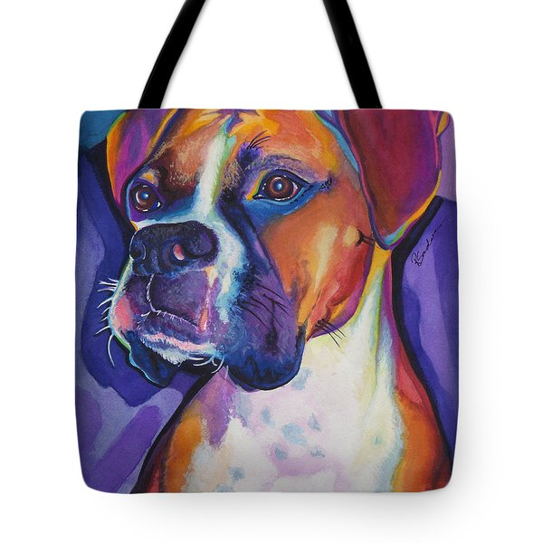 Boxer Dog Portrait Tote Bag by Robyn Saunders