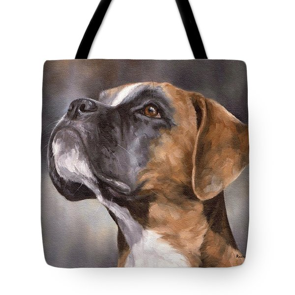Boxer Painting Tote Bag