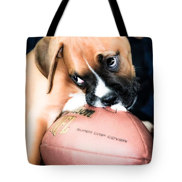 Boxer Puppy Cuteness Tote Bag