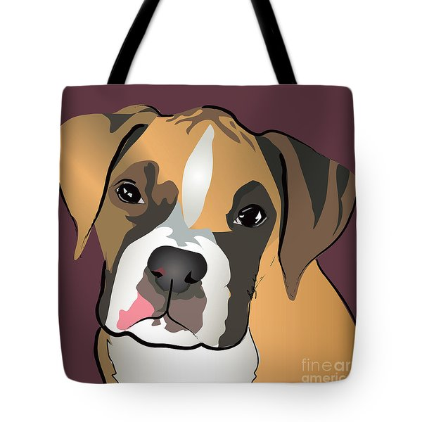 Boxer Puppy Pet Portrait  Tote Bag by Robyn Saunders
