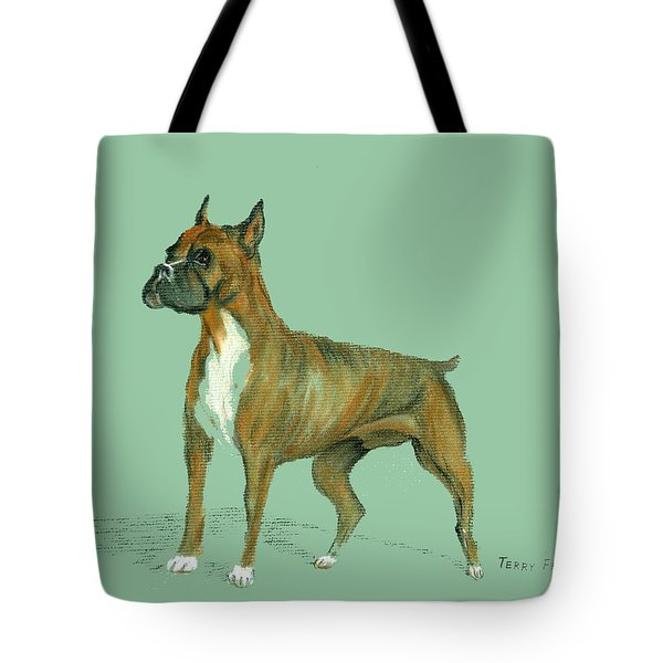 Boxer Tote Bag by Terry Frederick