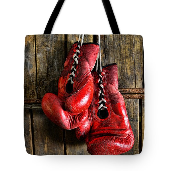 Boxing Gloves - Now Retired Tote Bag by Paul Ward