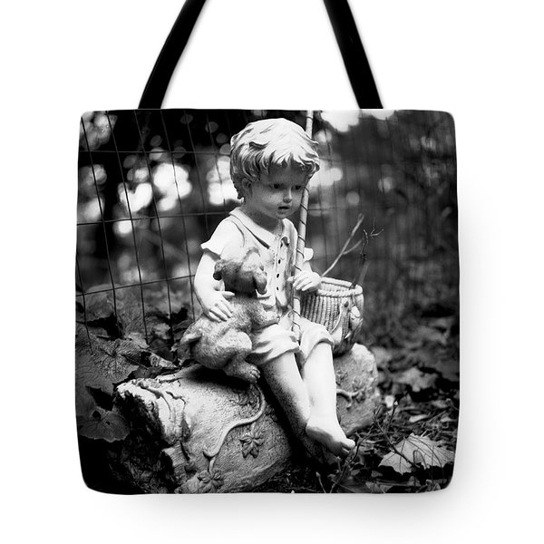 Boy And Best Friend Tote Bag