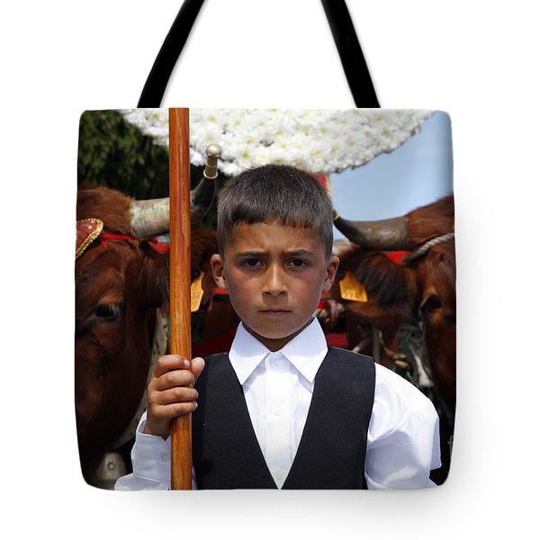 Boy And Oxen Tote Bag by Gaspar Avila