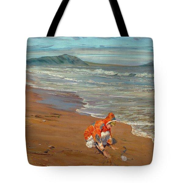 Boy At The Seashore Tote Bag