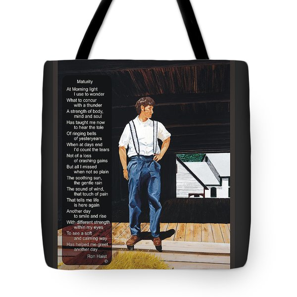 Boy In The Barn / Maturity Tote Bag by Ron Haist