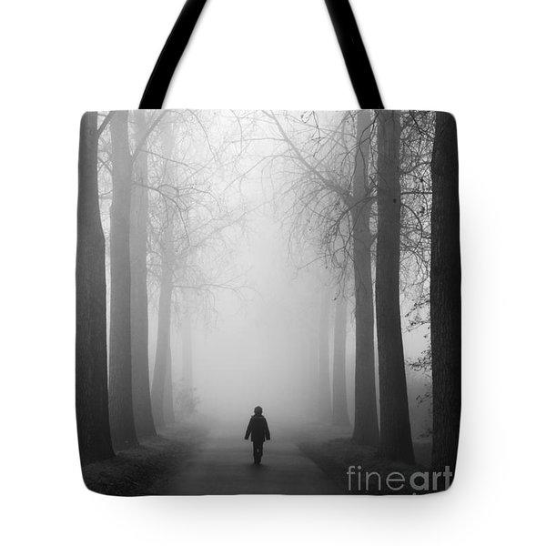 Boy In The Fog Tote Bag