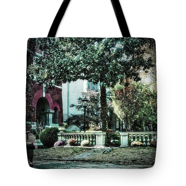 Boy Lost In Time Tote Bag