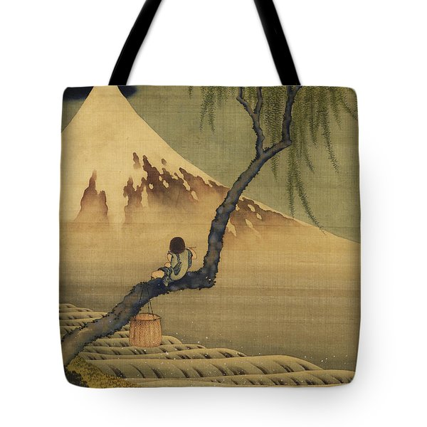 Boy Viewing Mount Fuji Tote Bag
