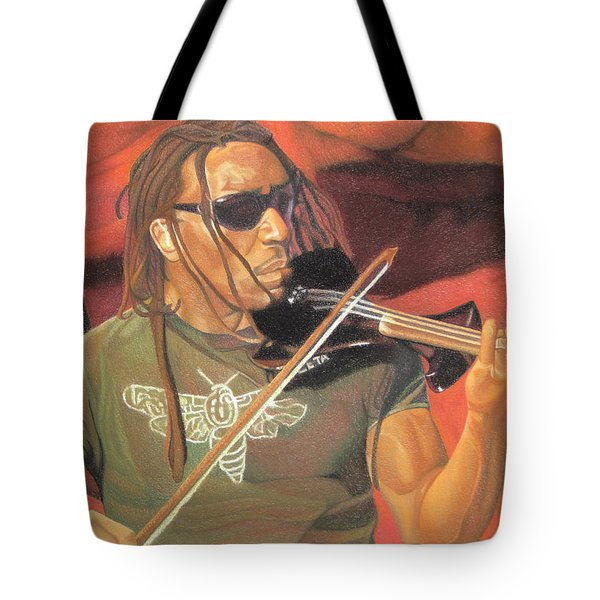 Boyd Tinsley At Red Rocks Tote Bag by Joshua Morton