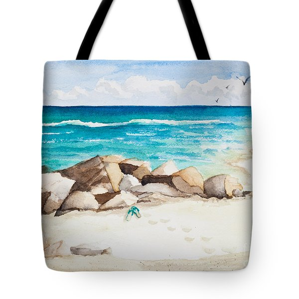 Boynton Beach Inlet Watercolor Tote Bag