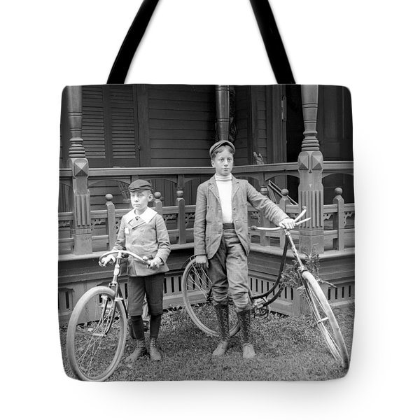 Boys And Bikes Tote Bag