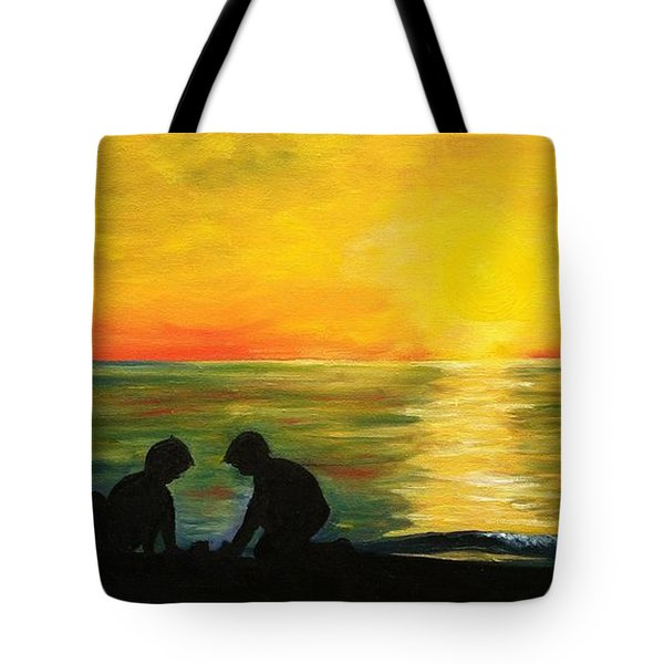 Boys In The Sunset Tote Bag