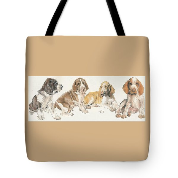 Bracco Italiano Puppies Tote Bag