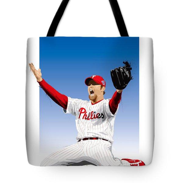 Brad Lidge Champion Tote Bag by Scott Weigner