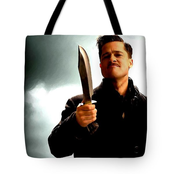 Brad Pitt @ Inglourious Basterds By Tarantino Tote Bag