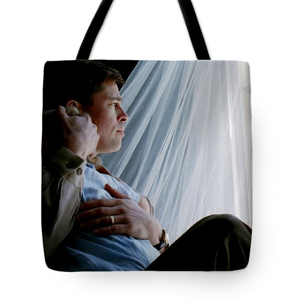 Brad Pitt In The Film The Tree Of Life Tote Bag