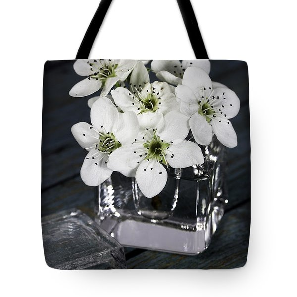 Tote Bag featuring the photograph Bradford Pear Posey In Inkwell by Betty Denise