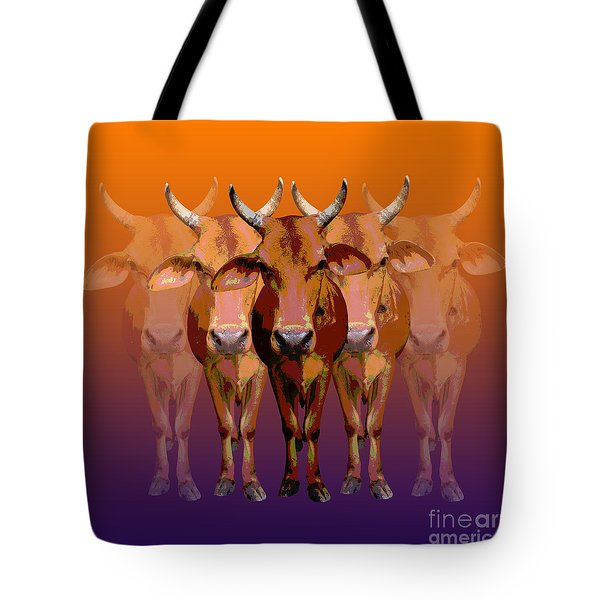 Brahman Cow Tote Bag by Jean luc Comperat