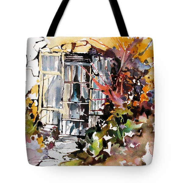 Tote Bag featuring the painting Brambles by Rae Andrews