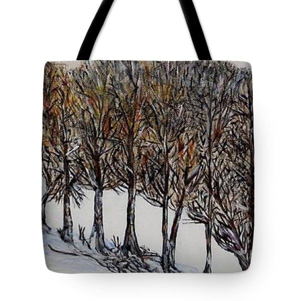 Tote Bag featuring the painting Branch Broken by Marilyn  McNish