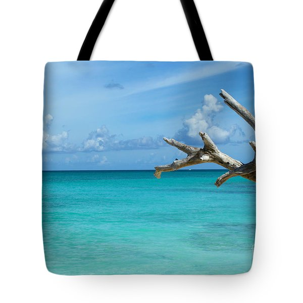 Branch Over The Caribbean Tote Bag