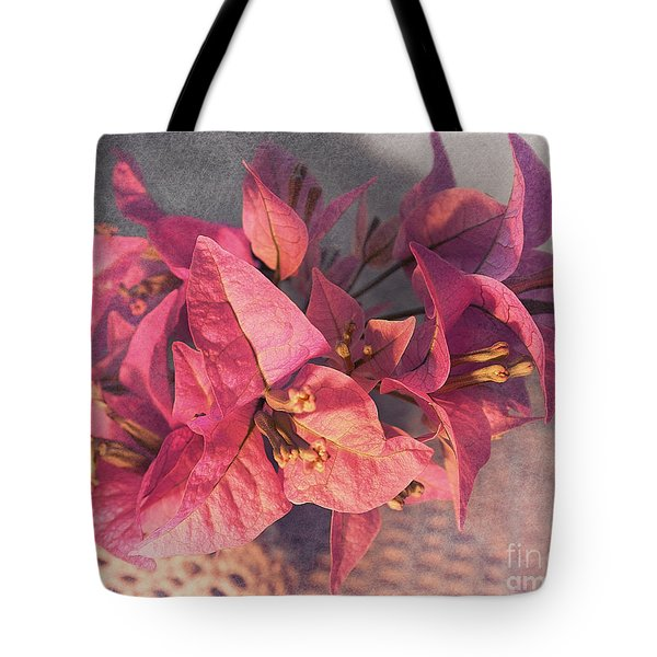 Branch With Bougainvillea Flowers  Tote Bag by Sviatlana Kandybovich