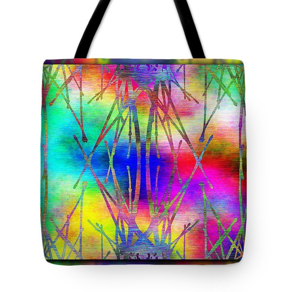 Branches In The Mist 7 Tote Bag by Tim Allen