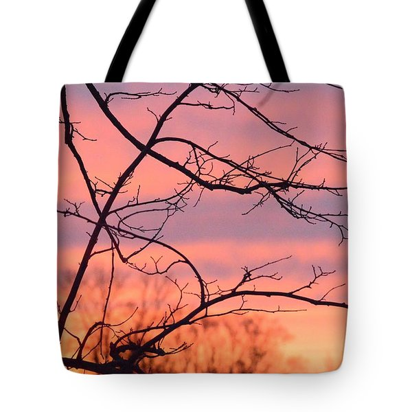 Tote Bag featuring the photograph Branches Meet The Sky by Dacia Doroff