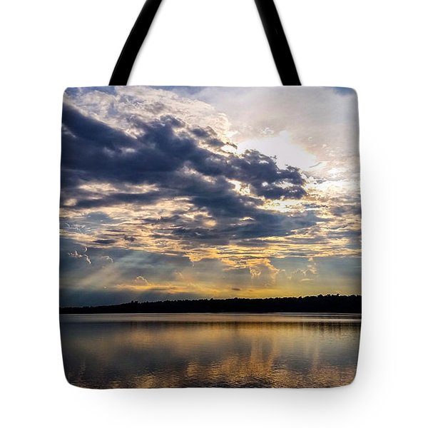 Tote Bag featuring the photograph Brandermill Sunset by Jean Haynes