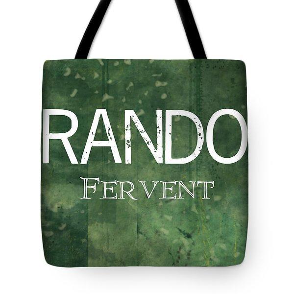 Brandon - Fervent Tote Bag by Christopher Gaston