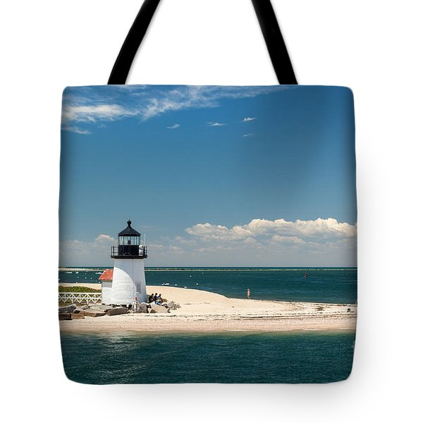 Brant Point Light Nantucket Tote Bag