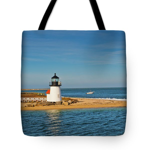 Brant Point Lighthouse Nantucket Tote Bag