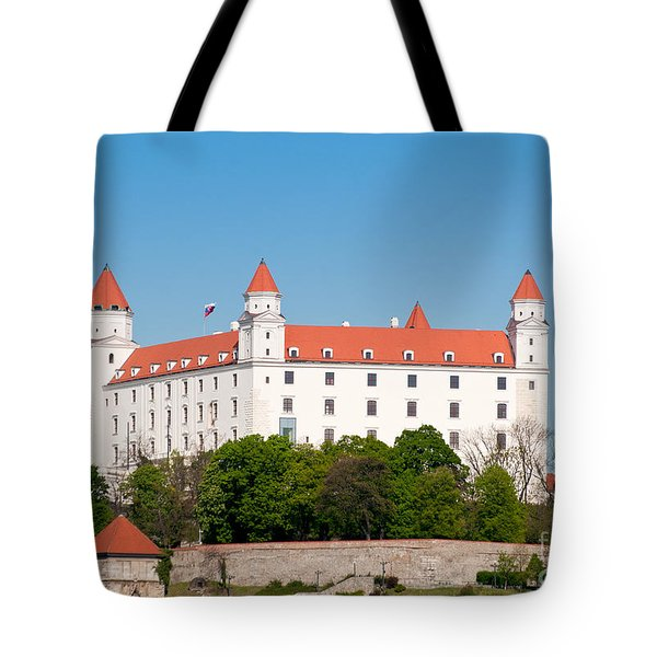 Tote Bag featuring the photograph Bratislava Castle by Les Palenik