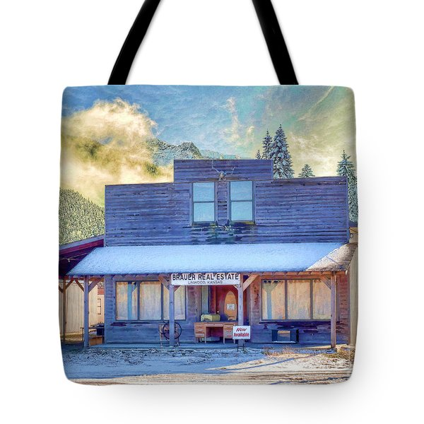 Tote Bag featuring the photograph Brauer Real Estate Linwood Kansas by Liane Wright