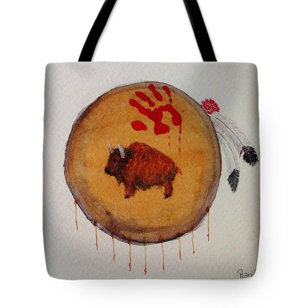 Tote Bag featuring the painting Brave Artifact by Rand Swift