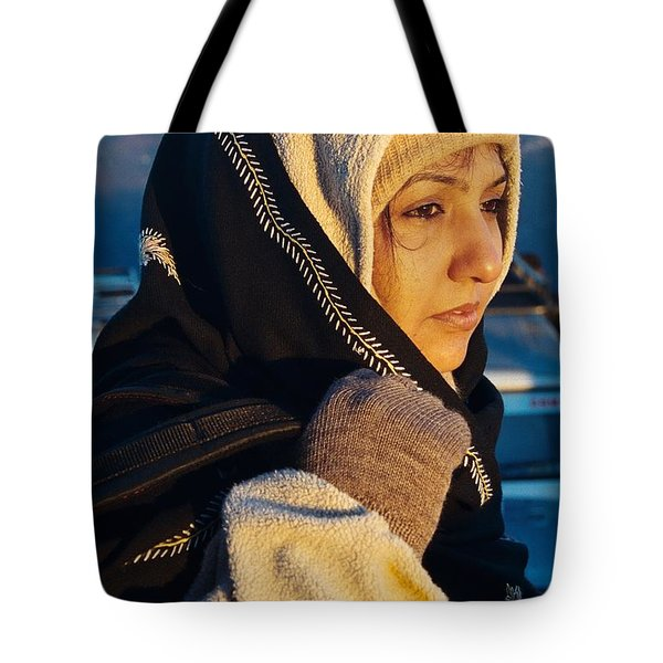 Tote Bag featuring the photograph Braving The Cold by Fotosas Photography