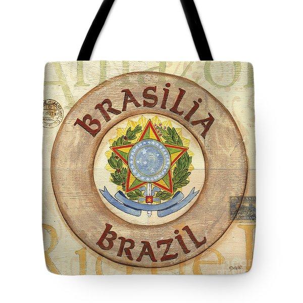 Brazil Coat Of Arms Tote Bag